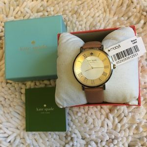 🎁Kate Spade Genuine Leather Watch Brown/Pearl